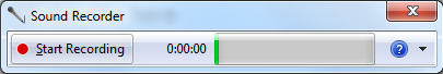 Sound Recorder in Windows 7