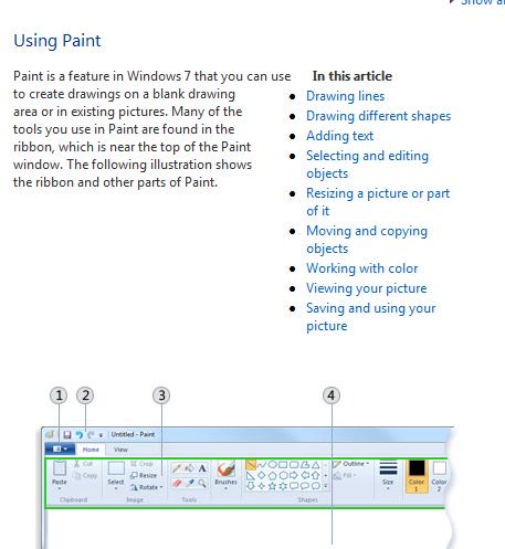 Paint to view Screenshot Captured in Windows 7