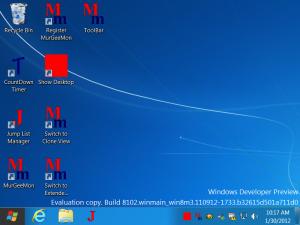 Desktop of Windows 8