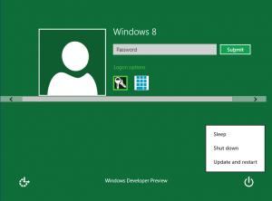 Login Screen to Logon to Windows 8 Computer