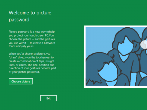 New Login option in Windows 8 using Picture Password