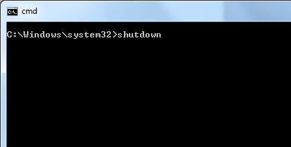 Shutdown Command to Shutdown a Windows 8 Computer