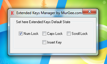 Control Caps Lock, Scroll Lock, Num Lock and Insert Key with Extended Keys Manager