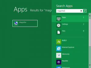 Magnify any portion of the Screen using Magnifier in Windows 8
