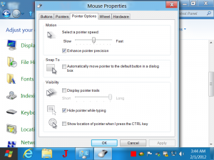 Control Mouse Cursor Type, appearance and other parameters on Windows 8