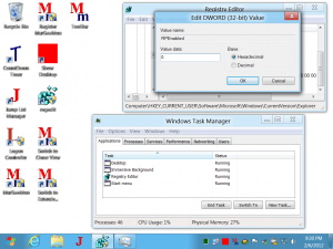Old Task Manager on Windows 8