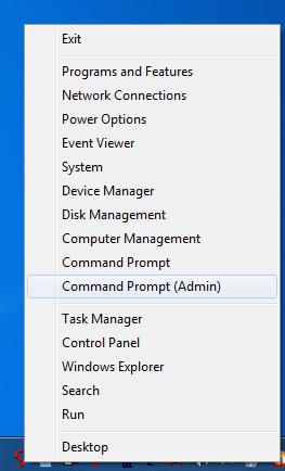 Control Panel Menu for Windows