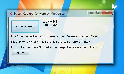 Capture screenshot on Windows 8, Windows 7 using Screen Capture Software