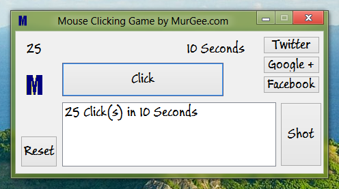 Free Mouse Clicking Game for Windows Computers