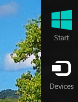 Windows 8 Charms Bar with Devices Icon