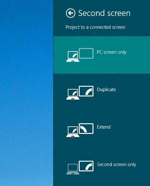 Connect External Monitor or Projector to your Windows 8 Computer