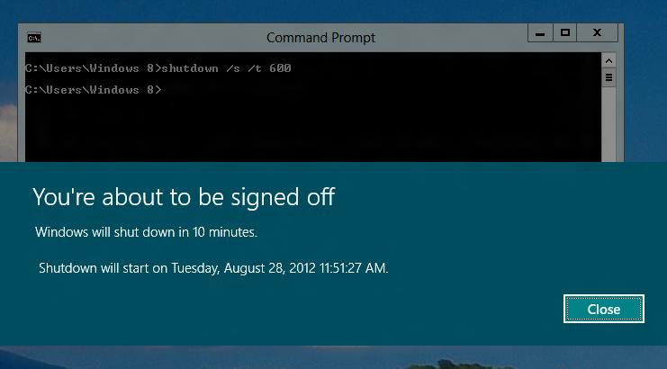 Shutdown Network Computers working on Windows 8