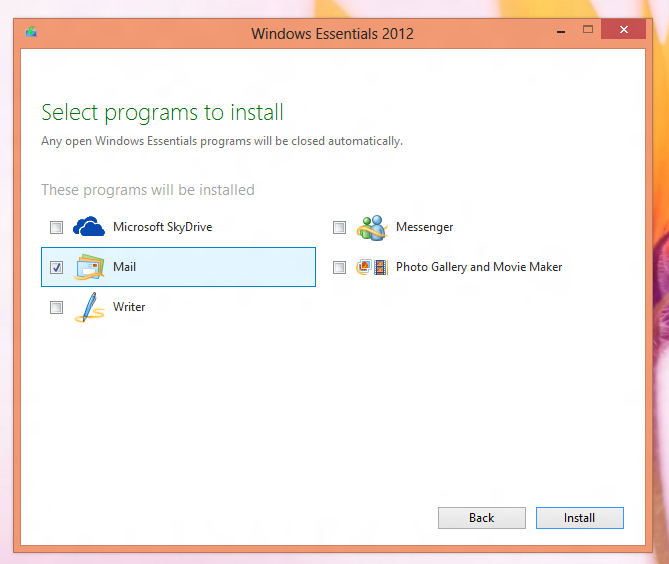 Download Free EMail Software from Microsoft on your Windows 8 or Windows 7 Computer