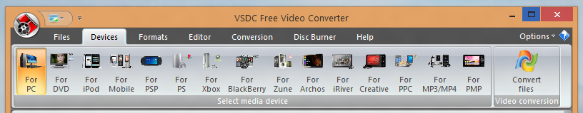 Video Conversion Format supported by Free Video Converter