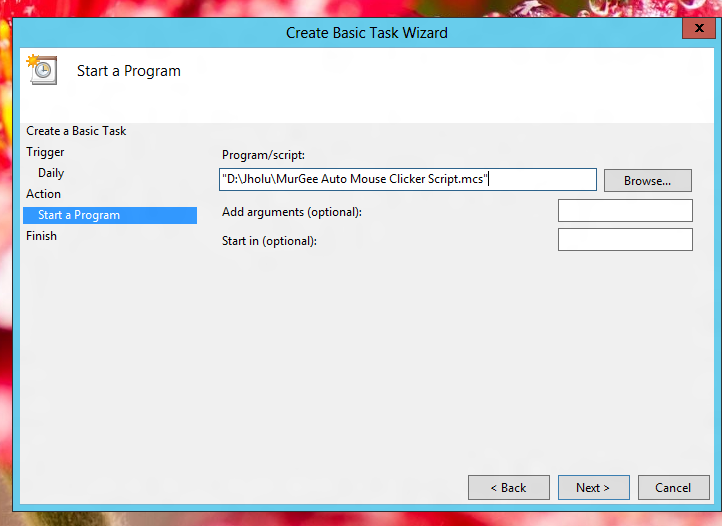 Start a Program with Windows Task Scheduler