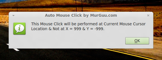 Linux Auto Clicker at Current Mouse Cursor Location