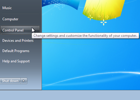 Control Panel to Uninstall Software on Windows 7