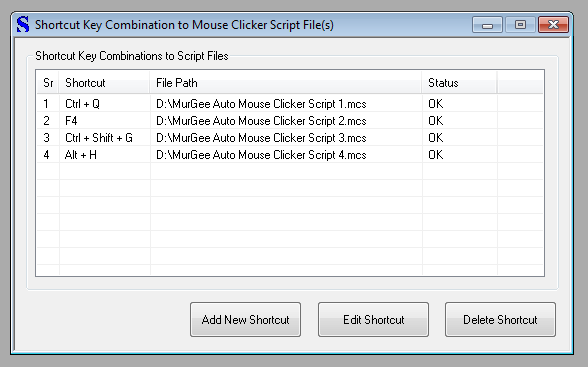 Keyboard Shortcuts for Mouse Clicking Scripts in Advanced Auto Clicker