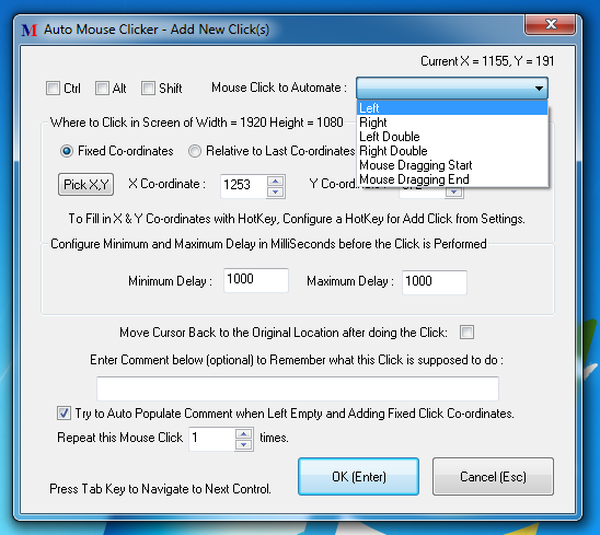 Advanced Auto Clicker to Click Mouse Cursor on Windows
