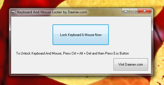 Lock Keyboard and Mouse