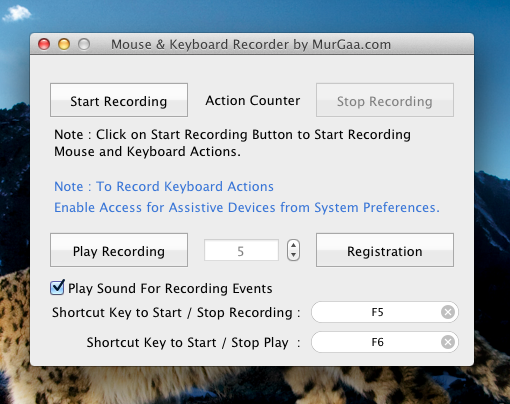 Record and Play Mouse Clicks and Keystrokes on Apple Mac OS X