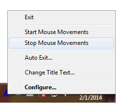 Start or Stop Automatic Mouse Movements